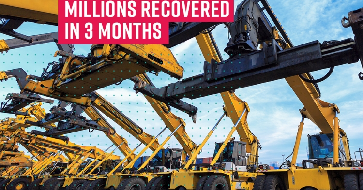 Materials company recovers millions by registering on the PPSR